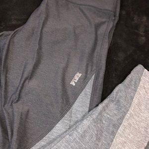 grey active pink yoga leggings